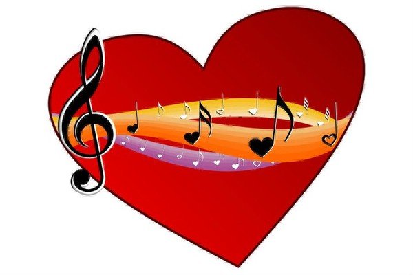 coeur note de musique
