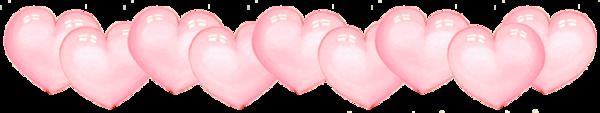 ligne de coeur roses