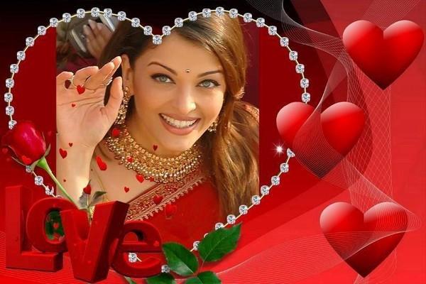 belle image LOVE avec coeur et femme