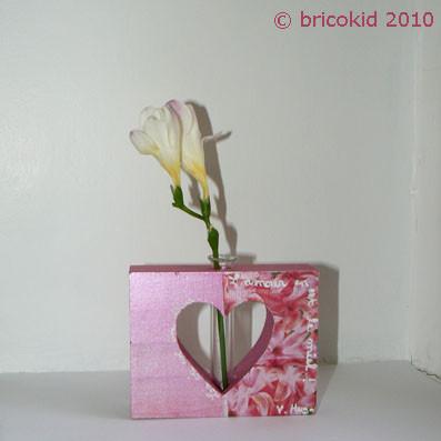 bricolage soliflores coeur pour la f te des m res centerblog. Black Bedroom Furniture Sets. Home Design Ideas
