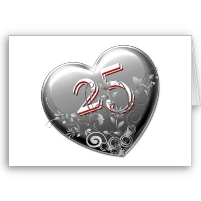 un joli coeur pour souhaiter vos 25 ans de mariage 25 coeur. Black Bedroom Furniture Sets. Home Design Ideas