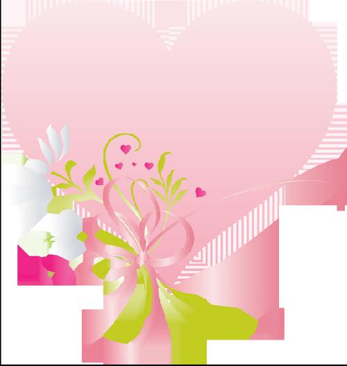 Joli coeur rose avec des fleurs centerblog - Coeur avec des fleurs ...