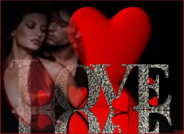 LOVE. belle image de coeur et couple