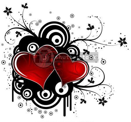 belle image de 2 coeurs rouges