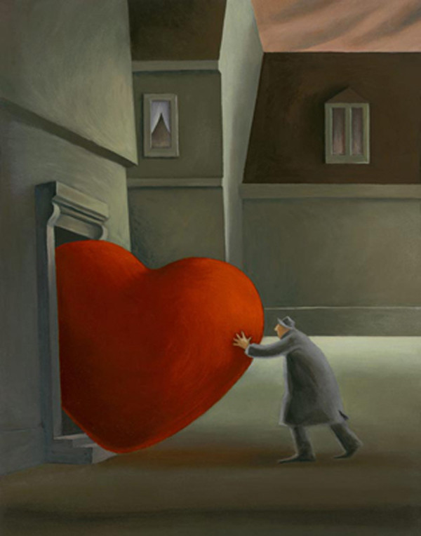 un coeur rouge lourd a porter!