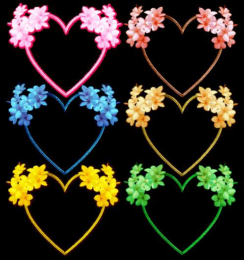 6 jolies coeurs en couleur avec des fleurs centerblog - Coeur avec des fleurs ...