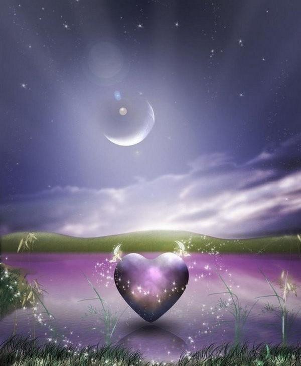coeur dans un joli paysage offert par AYALA