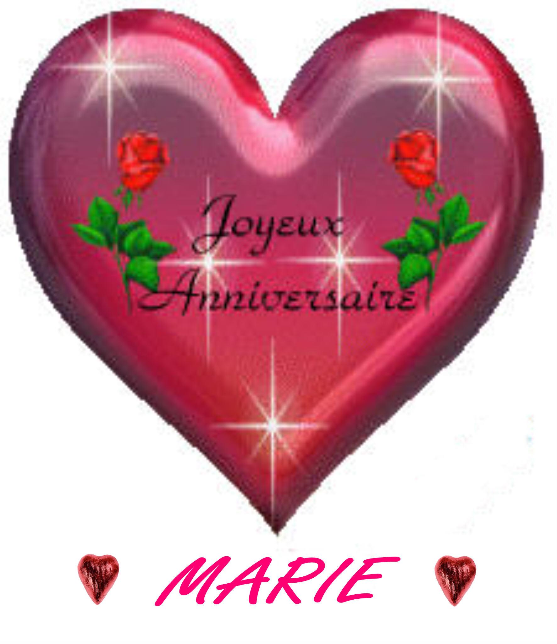 COEUR JOYEUX ANNIVERSAIRE A MARIE
