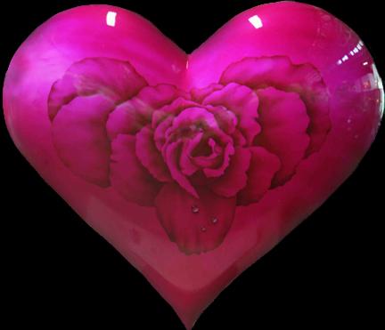 Joli Coeur Rose Sur Fond Noir