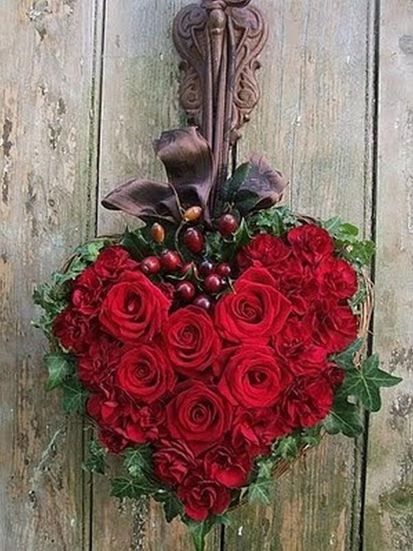Célèbre image de coeur et fleur HO34
