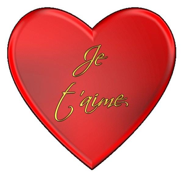 Je t 39 aime dans un gros coeur rouge gros coeur - Un gros coeur d amour ...