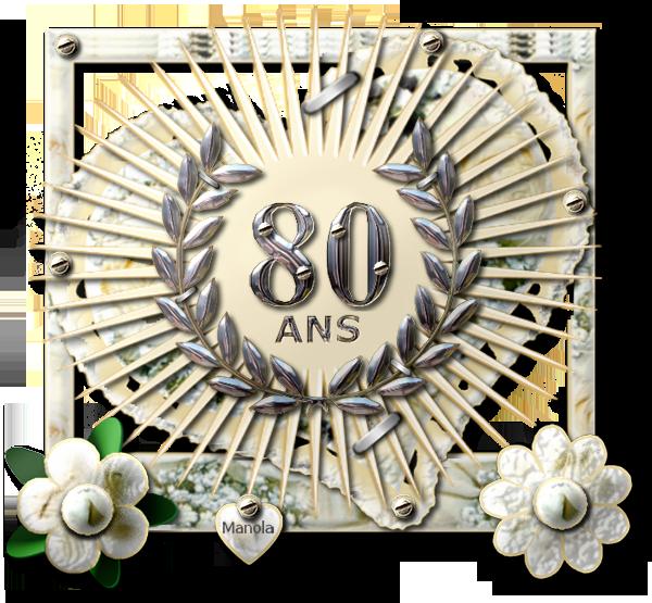 Gateau anniversaire femme 80 ans