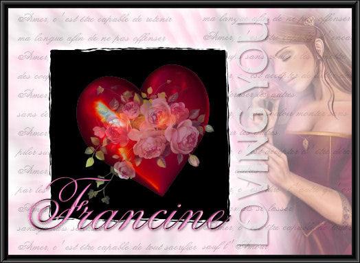 Pr nom francine 1 avec un magnifique coeur centerblog - Adelaide prenom ...