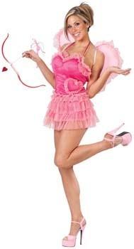 une gracieuse Cupidon en rose
