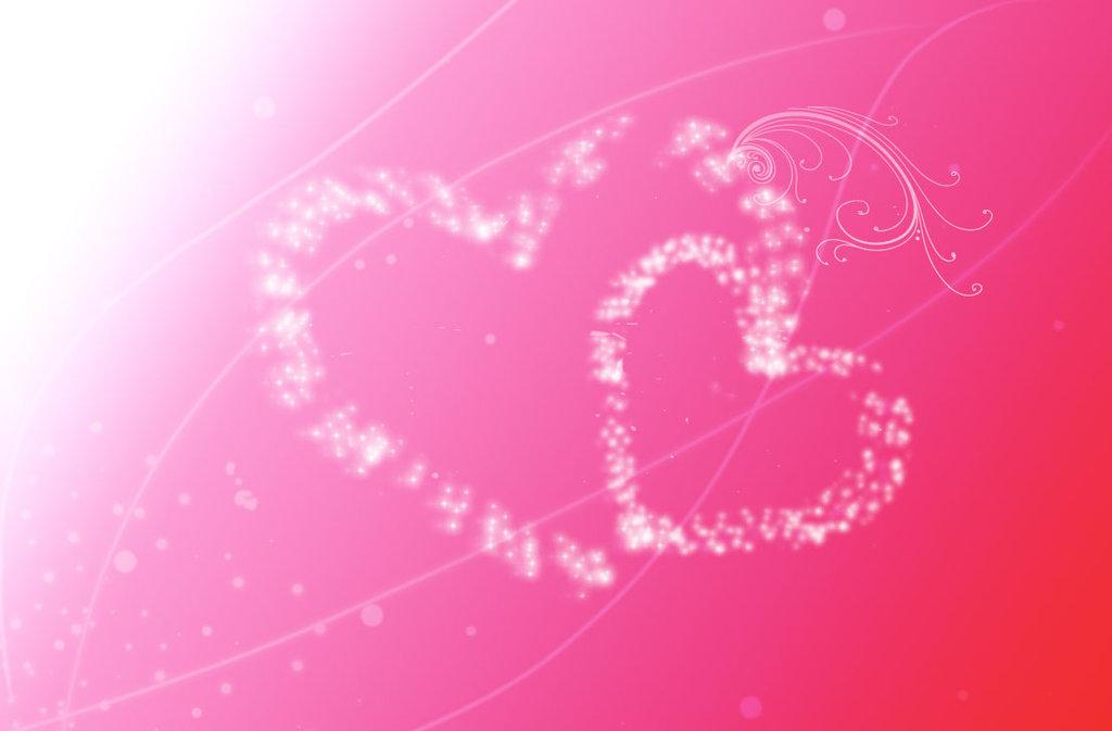 Joli fond d 39 cran rose avec coeur fond d 39 cran rose for Fond ecran rose