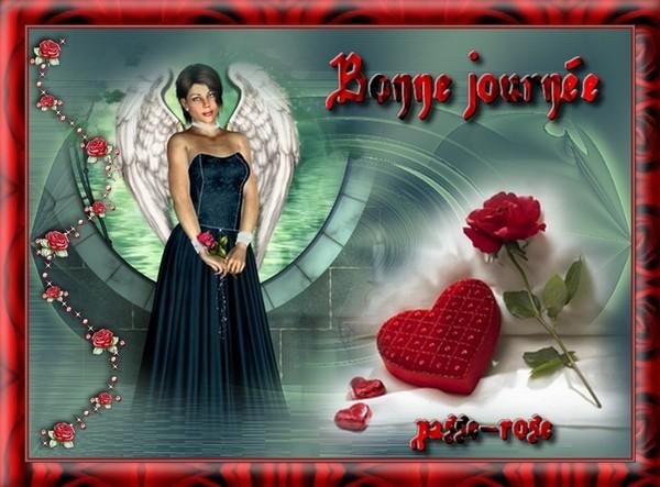 """BONNE JOURNEE. jolie création de GIGI """"Passe-Rose"""""""