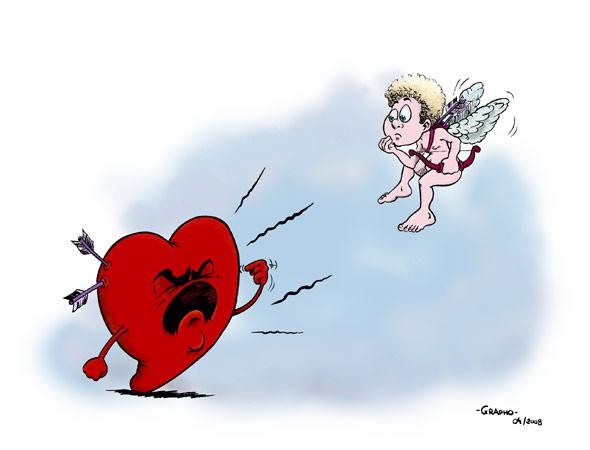 Dessin humour de cupidon et coeur centerblog - Dessin de cupidon ...