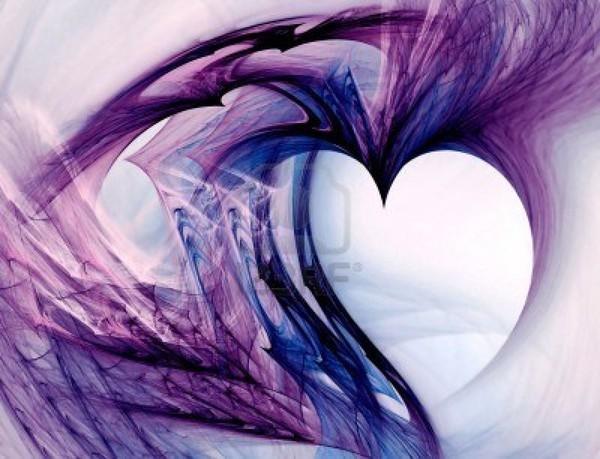 image de beau coeur violet