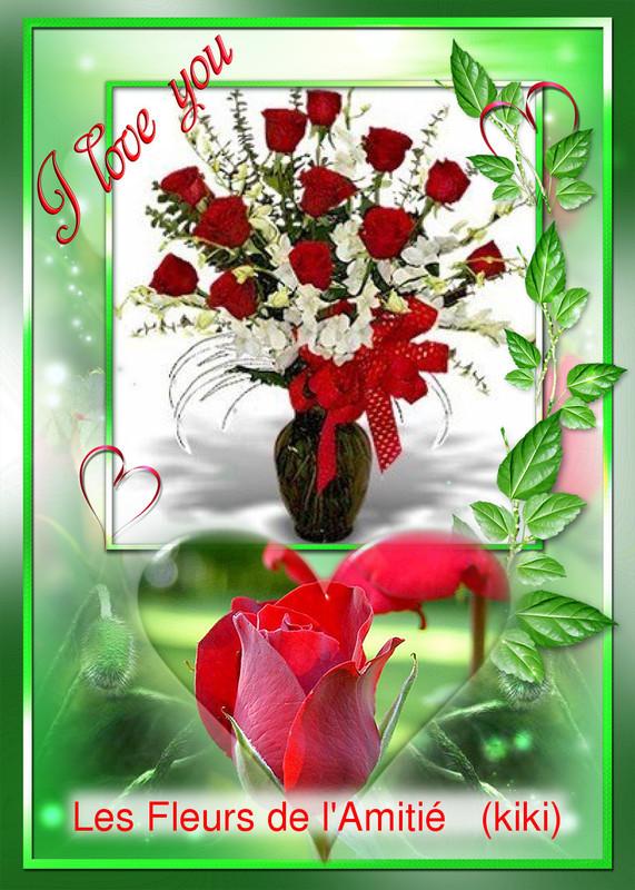 bouquet offert avec le grand coeur de notre amie KIKI