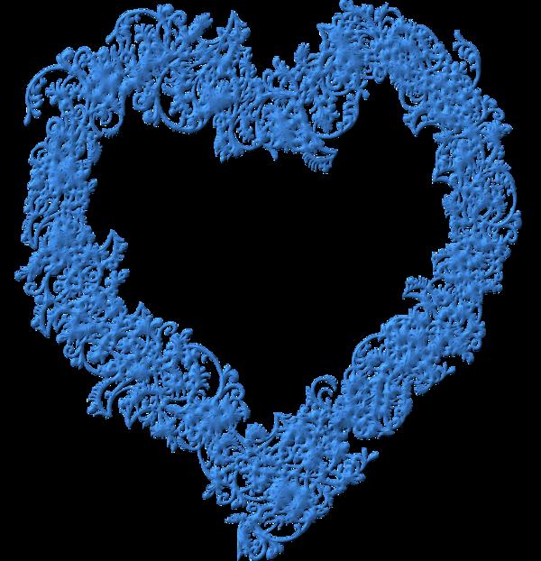 un joli coeur bleu