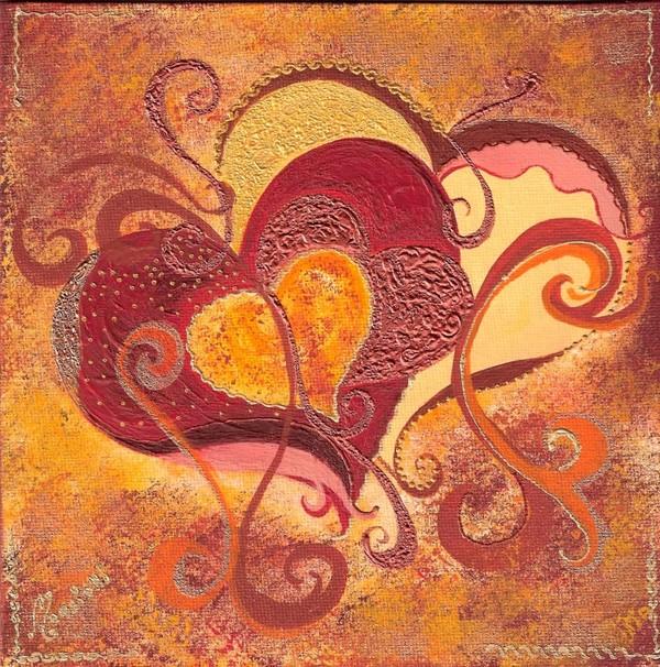 Tableau coeur for Colorie de peinture