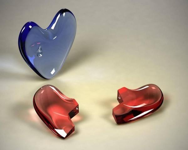 image de coeur brisé et coeur triste