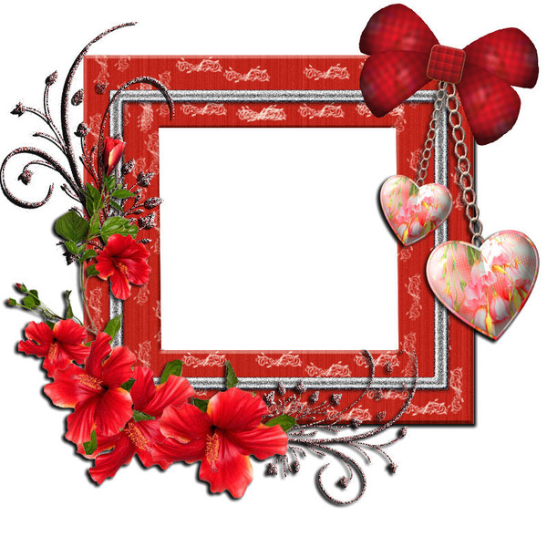 Magnifique Cadre Avec Des Coeurs Centerblog