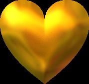 joli coeur couleur OR