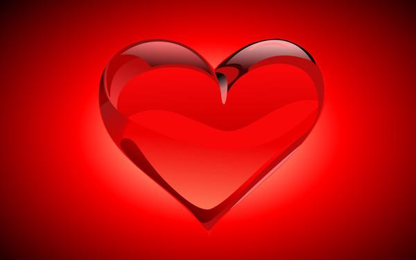 belle image de coeur rouge