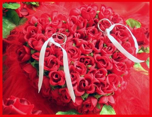 Joli coeur de fleurs rouges centerblog - Coeur avec des fleurs ...