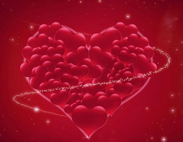 belle image d'un coeur rempli de coeurs