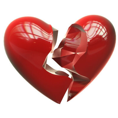 Coeur rouge bris coeur bris rouge - Dessin de coeur brise ...