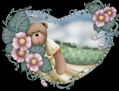 joli coeur avec ours
