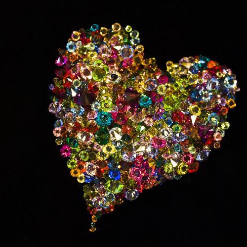 un magnifique coeur sur fond noir