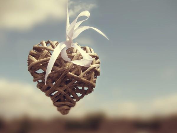 joli coeur en bois