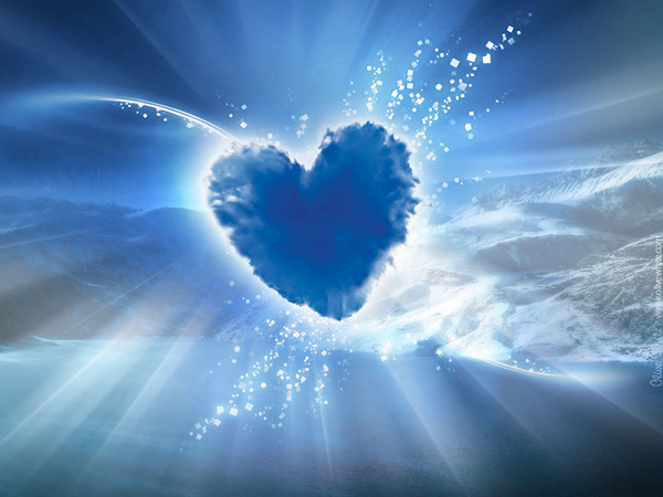 superbe coeur bleu offert par un ami