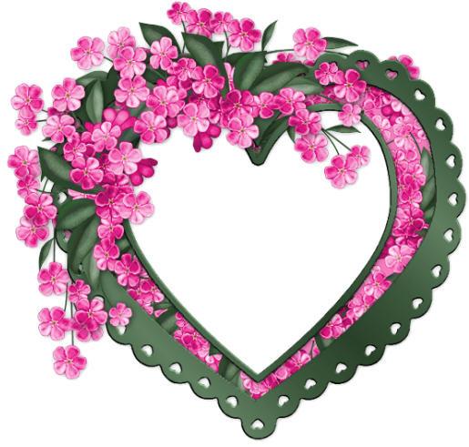 Magnifique coeur avec fleurs centerblog - Images avec des coeurs ...