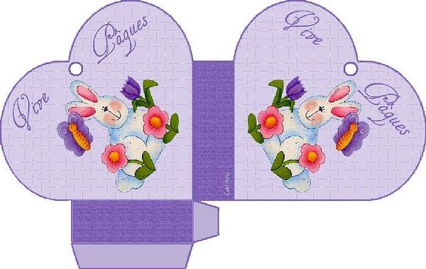 BRICOLAGE. Paniers-coeurs pour Pâques a imprimer