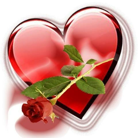 fleur dans un coeur