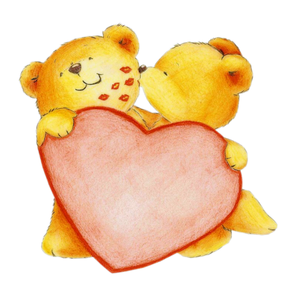 deux petits ours avec un gros coeur - Ours Coeur
