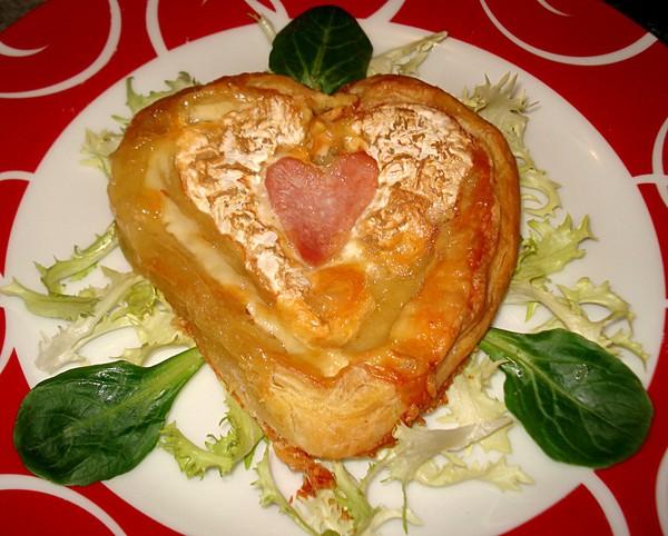 Coeur Fromage.feuilleté au coeur de neufchatel