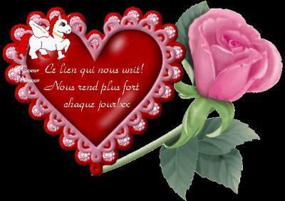 Message d'Amour dans coeur