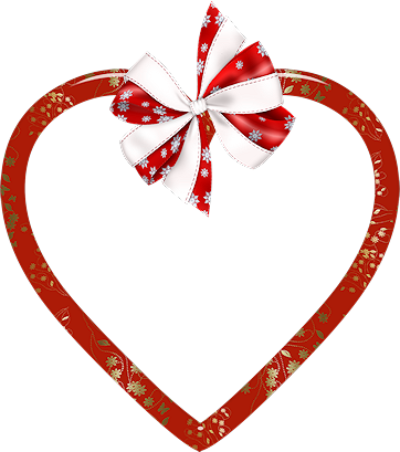 joli coeur avec un noeud de ruban
