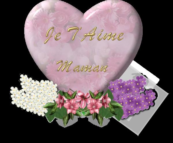 Maman je t'aime dans un joli coeur