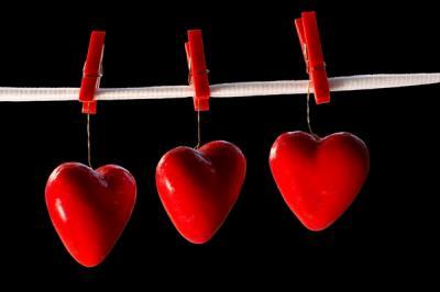 Coeur rouge suspendu