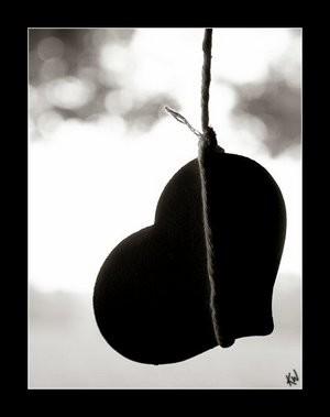 coeur noir , coeur en detresse