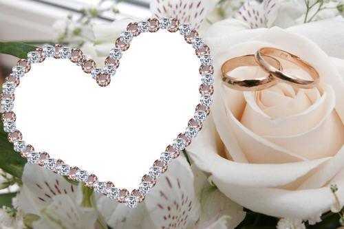 cadre joli coeur pour photo de mariage cadre de photo de mariage. Black Bedroom Furniture Sets. Home Design Ideas