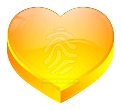 Grand Coeur jaune
