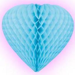 Cœur Festonné Bleu pour décoration