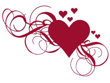Coeur Dessin joli coeur rouge - dessin de coeur